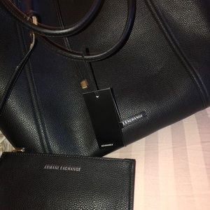 Armani exchange reversible tote